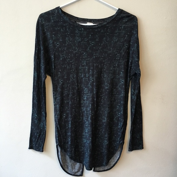 Wilfred Aritzia XXS Sequin Print Open Back Shirt